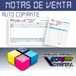 Notas de Venta a Color Original y Copia
