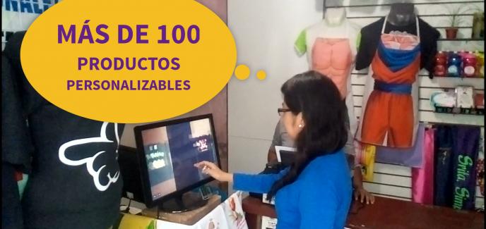 Mas de 100 productos personalizados