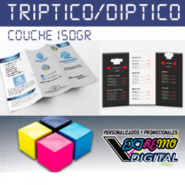 Tríptico Díptico a Todo Color Couche Brillante
