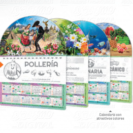 Con Iman Calendario de Pared LEN Chico Serie M 25pz