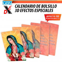 25pz Calendario de Bolsillo 3D Efectos especiales BL