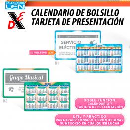 25pz Calendario de Bolsillo Tarjeta de Presentacion B1/B2