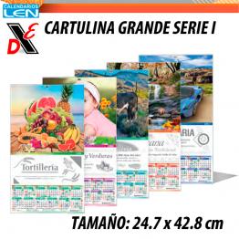 Calendario de Pared LEN Grande Serie I 25pz