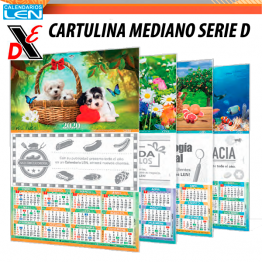 Calendario de Pared LEN Mediano Serie D 25pz