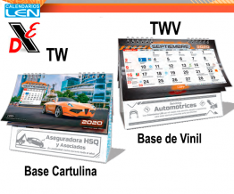Calendario de Escritorio Wire O «Súper Motores» Tw y Twv