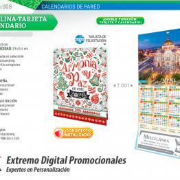 Cartulina Tarjeta y Calendario de Pared LEN 25Pz