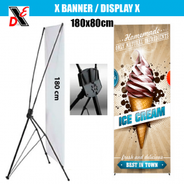 X BANNER DISPLAY 180x80cm