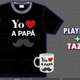 COMBO Playera + Taza personalizada