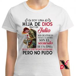 Playera Personalizada «Soy una hija de Dios Nací en …»