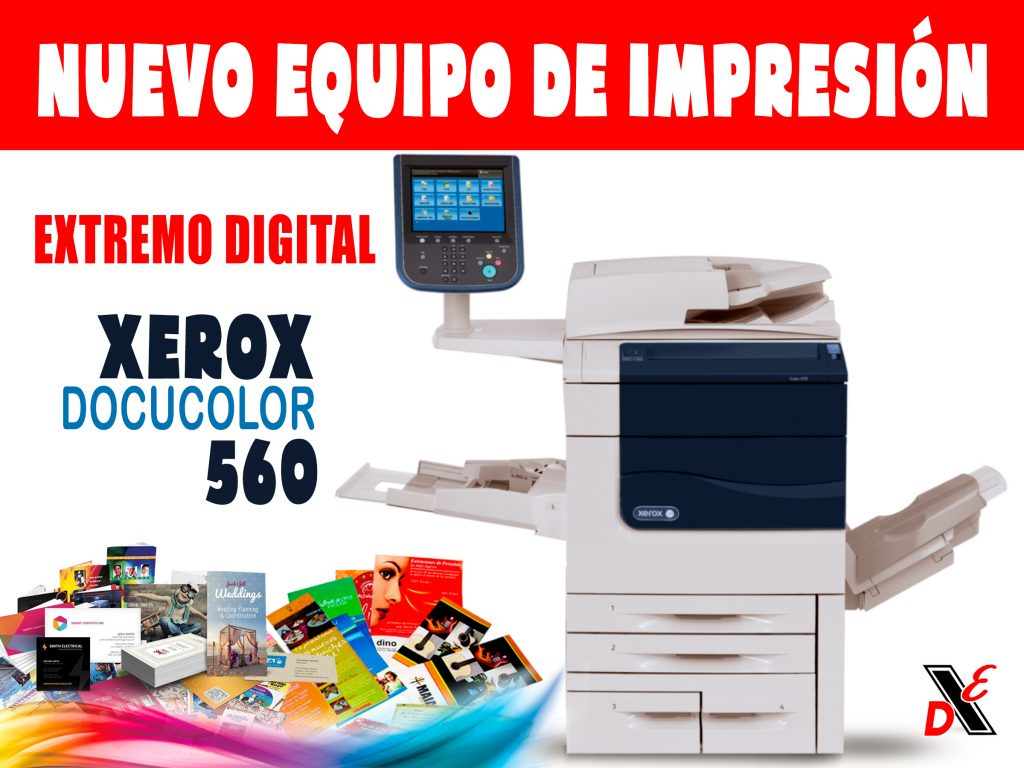 Impresion digital docucolor 560